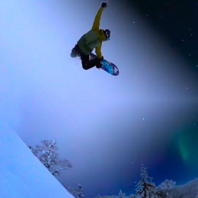 スノーボード snowboard jump ジャンプ
