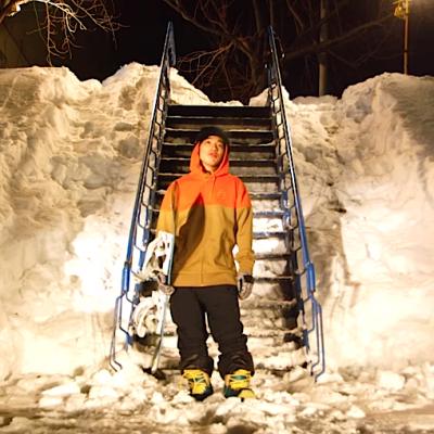 スノーボード snowboard レール rail