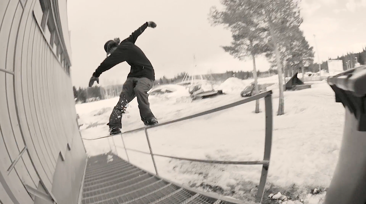 スノーボード snowboard rail レール