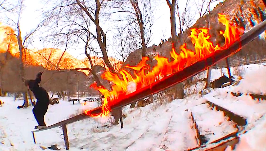 スノーボード snowvoard railレール