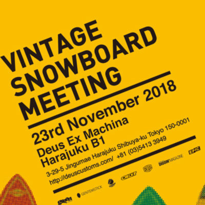 Roots Groove VINTAGE SNOWBOARD MEETING
